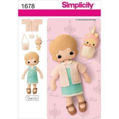 Eu Amo Artesanato: Bonequinha com molde