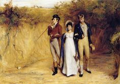 The artist is John Pettie. It was painted in the 1880s, so it is not the best thing to use as an example for research, because I am sure it is intended to be regency. But it is pretty...