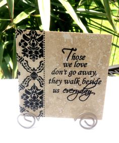 Those we love HOME Travertine tile with Stand. by mydecor8 on Etsy, $7.75