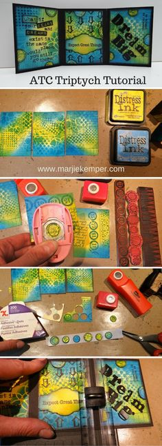 ATC Triptych Tutorial using Artist Trading Cards (ATCs) - Marjie Kemper