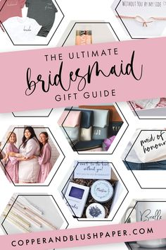 The Ultimate Bridesmaid Gift Guide - Bridal Party Gifts - Bridesmaid Gift Boxes, Bridesmaid Proposal Box, Bridesmaid Cards, Be My Bridesmaid, Wedding Bridesmaids, Blush Wedding Stationery, Romantic Weddings, Summer Weddings, Groomsman Gifts