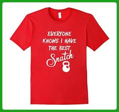 Mens I have the best snatch: Funny Kettlebell workout T-shirt XL Red - Workout shirts (*Amazon Partner-Link)