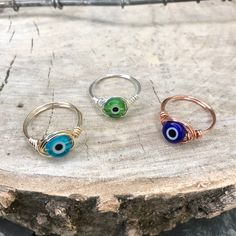 Wire Jewelry Rings, Handmade Wire Jewelry, Cute Jewelry, Crystal Jewelry, Beaded Jewelry, Jewelry Accessories, Jewelry Design, Jewlery, Diy Crystal Rings
