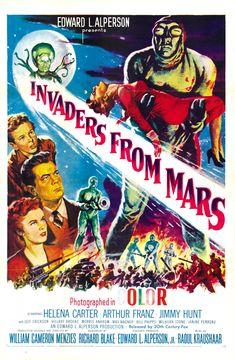Classic Sci Fi Movies, Sci Fi Horror Movies, Sci Fi Films, Classic Movie Posters, Film Science Fiction, Fiction Movies, Horror Movie Posters, Film Posters, Mars Movies