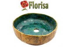 Designer handgeformte und handbemalte Waschbecken aus Keramik und Ton.      Handgeformte Waschbecken
