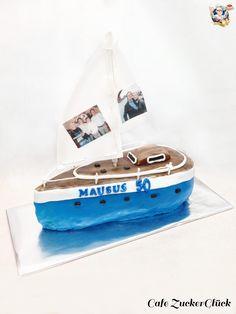 Segelboot Torte Motto, Sailboats, Mottos