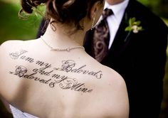 """Michelle Sven's tattoo shows her love with """"I am my beloved's and my beloved is mine"""""""