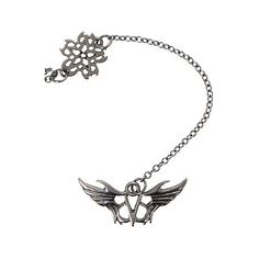 Black Veil Brides Logos Rosary Necklace Hot Topic ($8.40) ❤ liked on Polyvore featuring jewelry and necklaces