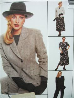McCALL'S 7954 Misse's JACKET, TIP, PANTS, PULL -ON SKIRT Size 10 FREE SHIPPING! | eBay $5.99 FREE SHIPPING