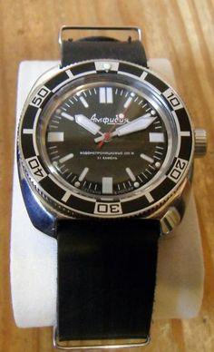Vostok amphibia 710 mod Wrist Watches, Cool Watches, Vostok Watch, Black Sea, Seiko, Vintage Watches, Omega Watch, Clocks, Accessories