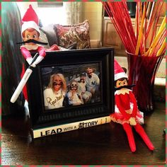 Elf on the Shelf Ideas. At least they are Yankees Fans! Mustache Elf