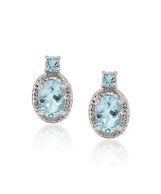 Look what I found on #zulily! Blue Topaz & Sterling Silver Oval Earrings #zulilyfinds