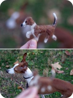 Tutorial for felted animals on Whirlybird. makes cute Christmas ornaments. Felt Projects, Craft Projects, Craft Ideas, Dog Ornaments, Christmas Ornaments, Needle Felting Tutorials, Mini Dogs, Felt Dogs, Faux Taxidermy