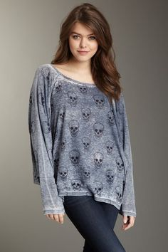 Go Couture Mini Skulls Dolman Thermal by Labels We Love on @HauteLook