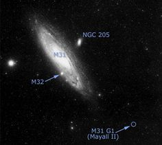Andromeda and its close satellites