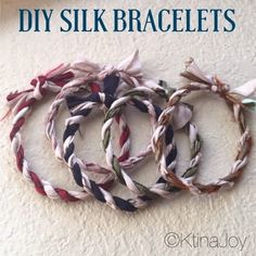 A Joy Walk: Fabric Twine Bracelets : using fabric scraps