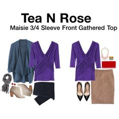 Maisie 3/4 Sleeve Front Gathered Top