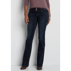 maurices Denimflex™ Bootcut Jeans With Thick Stitch Back Pockets,... ($39) ❤ liked on Polyvore featuring jeans, maurices, stitch's jeans, boot cut jeans, blue jeans and thick jeans