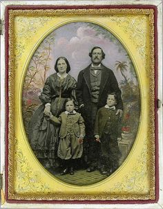 Family, Ambrotype 1855