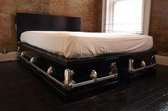 coffin-esque bed