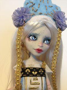 monster high custom doll  ooak monster thesleepyforest keberneteka cute kawaii repaint russian rochelle