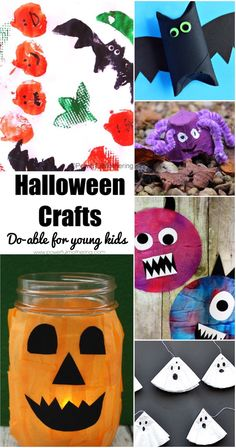 40+ Do-able #Halloween Crafts for Toddlers and Preschoolers