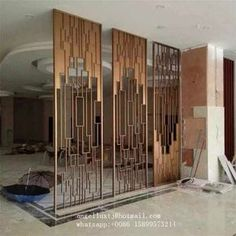 21 Room Divider Ideas To Help You Define Your Space Partition Screen, Room Design, Interior Decorating, Window Grill Design, Wall Partition Design, Interior Design Living Room Modern, Room Divider Screen, Modern Design, Stainless Steel Screen