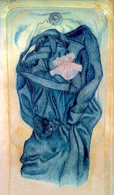 Robe De Chambre- Crayons De Couleurs by Thérèse Lafreniere