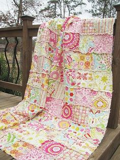 Really wish I could afford this lady!!! Her quilts are to-die-for!!!! Full Size Quilt Rag Kumari Garden shabby by southerncharmquilts, $299.00