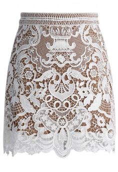 Baroque Crochet Lace Bud Skirt