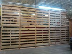 Completed pallet wall by R John Diaz.