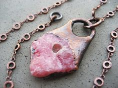 Rhodochrosite Pendant Natural Stone for Love by SilviasCreations, $69.00
