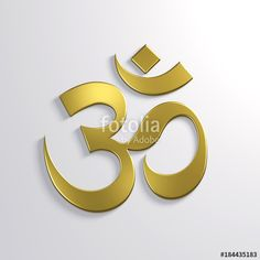 """Hindu Om Symbol. 3D Render Illustration"" Stock photo and royalty-free images on Fotolia.com - Pic 184435183"