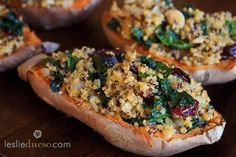 Quinoa Stuffed Sweet Potato | 23 Amazing Ways To Eat A Baked Potato For Dinner