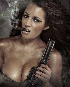 Women sporting cigars - Girls smoking cigars - Ladies lighting up Cigars And Women, Women Smoking Cigars, Cigar Smoking, Girl Smoking, Smoking Ladies, Thug Life, Hot Shots Calendar, Holly Peers, Gangster
