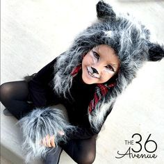 Halloween Costumes - This Wolf Costume is supers cute comfortable and perfect for kids and  sc 1 st  Pinterest & Halloween Costumes - Wolf Costume | Pinterest | Wolf makeup Wolf ...
