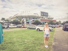 In front of Sun Life Stadium. Home of Miami Dolphins