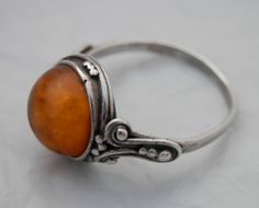 Hey, I found this really awesome Etsy listing at https://www.etsy.com/listing/173466212/vintage-amber-ring-sterling-silver