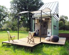 WOHWAGON is a beautiful compact mobile home that lets you live off-grid in style.