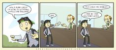 AmazingSuperPowers: Webcomic at the Speed of Light - Blank Check