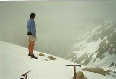 #greatwalker Al up Mt Rolleston low peak Arthurs Pass National Park when clag sets in.