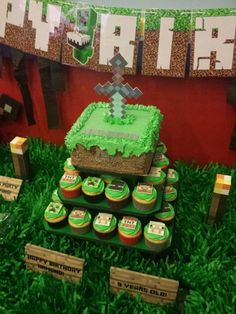 Incredible Minecraft Birthday Party!  See more party ideas at CatchMyParty.com!