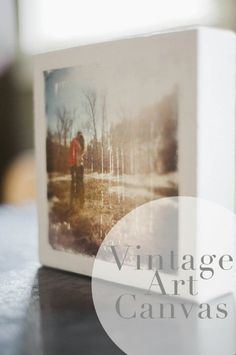 Vintage Canvases - 20 Cleverly Creative Ways to Display Your Cherished Photos