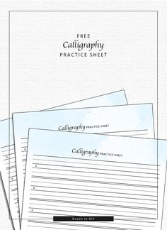 Free Calligraphy Practice Sheet from Drawn to DIY