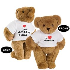 "15"" I Heart Grandma T-shirt Bear from Vermont Teddy Bear. $59.99. #MothersDay"