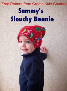Free Pattern!  Sammy's Slouchy Beanie by Create Kids Couture