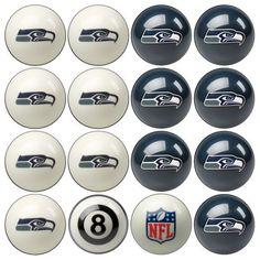 Seattle Seahawks NFL Billiard Ball Set - $268.99