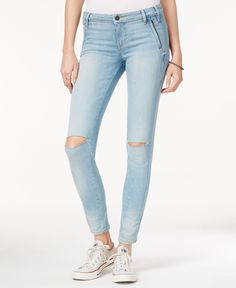 Guess Isabel Curve Ripped Skinny Acton Wash Jeans