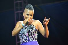'Queen of the Dancehall' Lady Saw performing at Reggae Sumfest 2013.