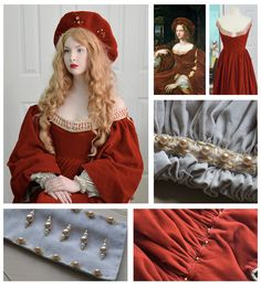 Here, she re-created the outfit from the Portrait of Doña Isabel de Requesens painting by Raphael and Giulio Romano. | This 18-Year-Old Girl Is Sewing Gowns That'll Take Your Breath Away